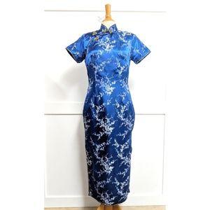 Vintage Style Cheongsam Dress Blue size 10
